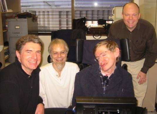 Peter Ford, James Shorey, Stephen Hawking and Someone